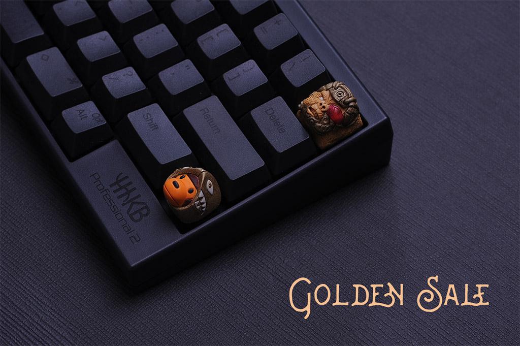 Golden Sale Gold Baby Milo Bape Legendary Kong Topre Hhkb Keycap